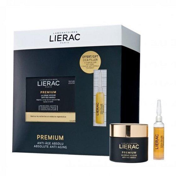 Lierac Premium Box Creme Sedoso 50ml Com Oferta De Cica-Filler Sérum Antirrugas 10ml