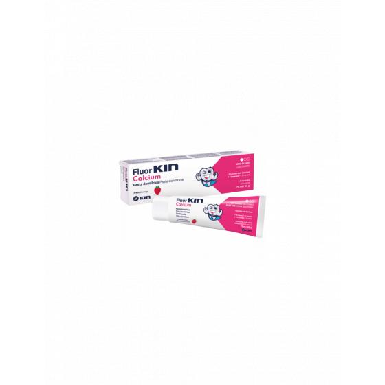 Fluor Kin Calcium Pasta Dent Morango 75ml