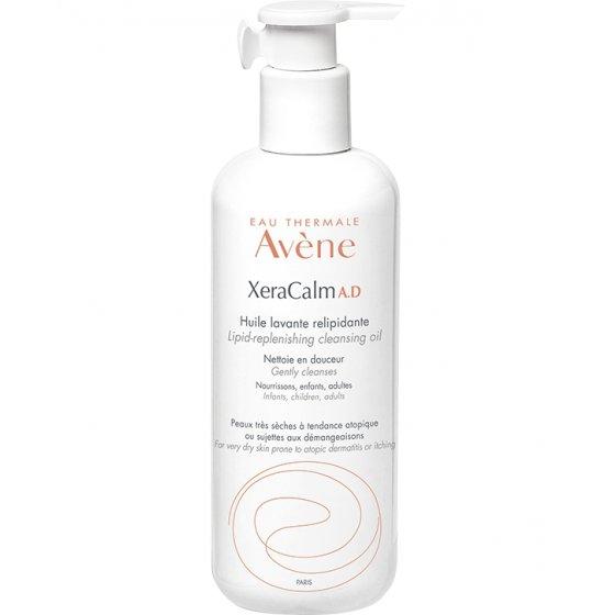 AVÈNE Xeracalm A.D Óleo de limpeza relipidante para pele com prurido e de tendência atópica. Embalagem de 400 ml