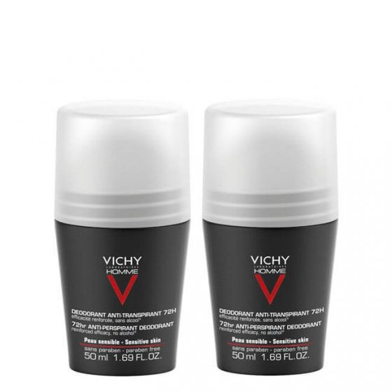 VICHY HOMME DEO ROLL ON 72H DUO + DESCONTO