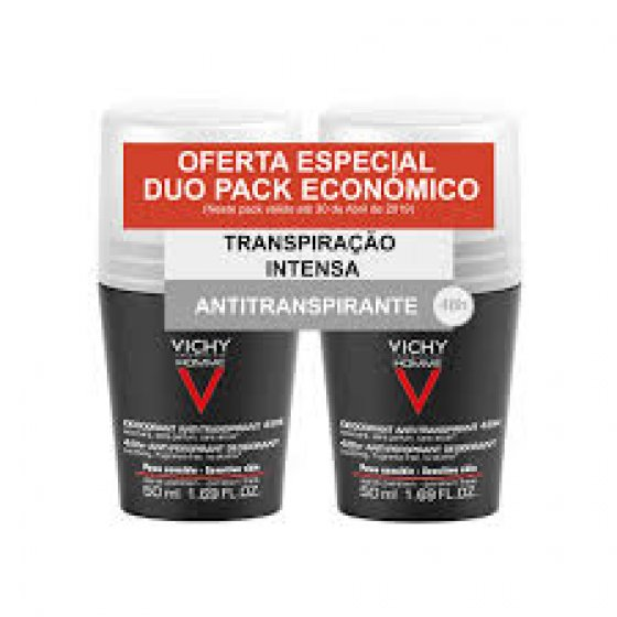 VICHY HOMME DEO ROLL ON PELE SENSIVEL DUO + DESCONTO