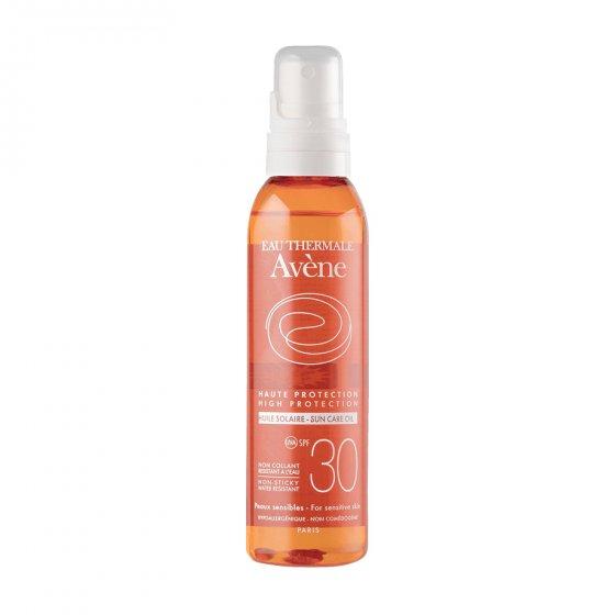 AVÈNE Solares Óleo 30 para pele clara e sensível ao sol. Embalagem de 200 ml