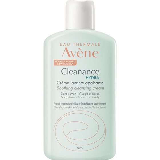 AVÈNE Cleanance HYDRA Creme Lavante Suavizante para pele oleosa de tendência acneica 200 ml