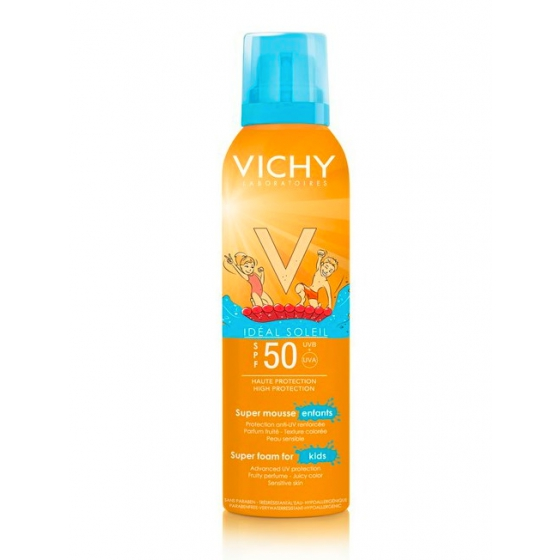VICHY IDEAL SOLEIL KID SUPER ESPUMA FP50+ 150ML