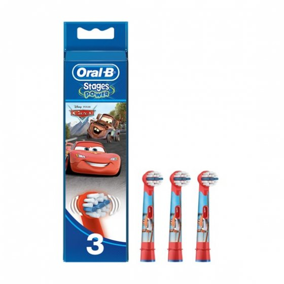 ORAL-B STAGE POWER RECARGA ESCOVA ELÉCTRICA CARS X 3