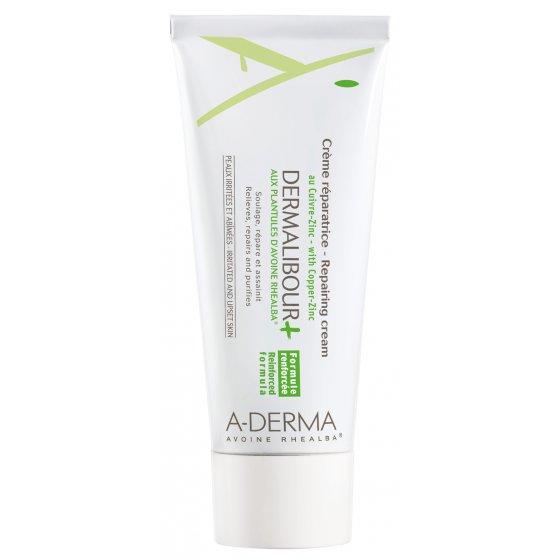 A-DERMA Dermalibour+  Creme Reparador para pele com irritações cutâneas seca. Embalagem de 100 ml