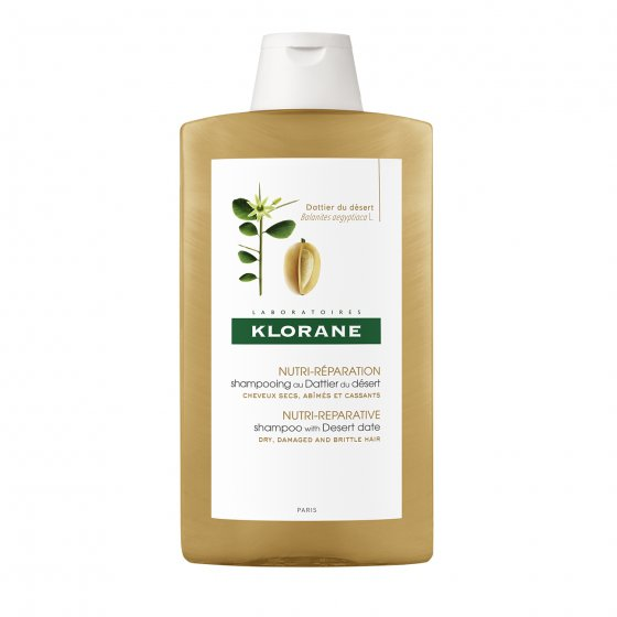 KLORANE Capilar Champô Tamareira do Deserto para cabelo seco, danificado e quebradiço Embalagem de 400 ml