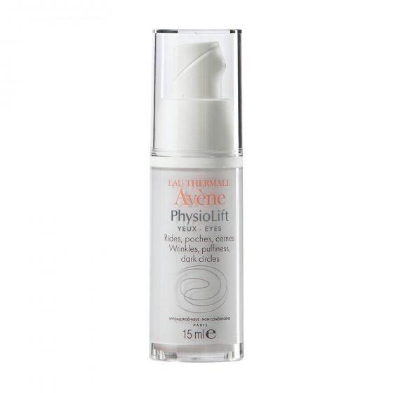 AVÈNE Physiolift Olhos para pele que tenham rugas marcadas no contorno do olho, papo e olheiras. Embalagem de 15 ml