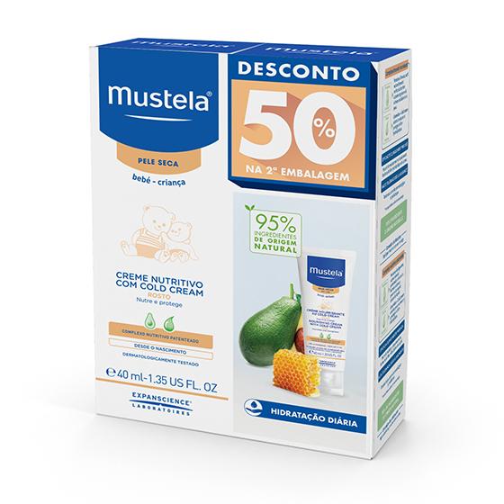 MUSTELA BEBE PS CREME ROSTO COLD CREAM 40ML DUO -50% DESCONTO NA 2ª EMBALAGEM