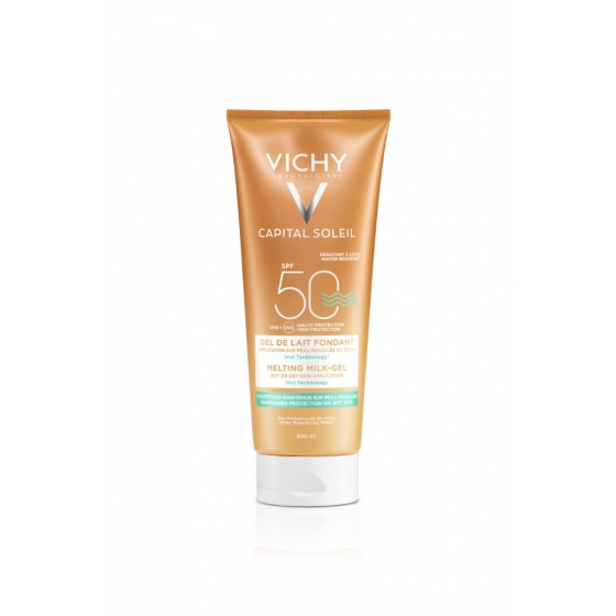 VICHY IDEAL SOLEIL GEL LEITE CORPO FP50 200ML