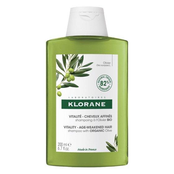 KLORANE Capilar Champô Essência de Oliveira para cabelo com perda de densidade. Embalagem de 400 ml