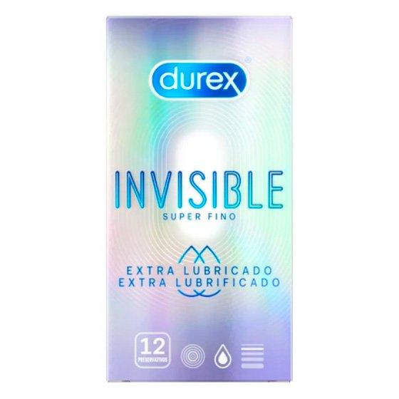 DUREX INVISIBLE EXTRA LUBRIFICADO PRESERVATIVOS X12