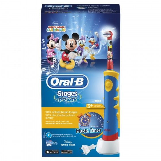 ORAL B BRAUN KIDS ESCOVA ELECTRICA MICKEY 3M+