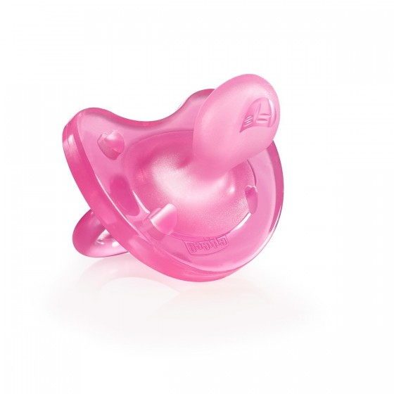 CHICCO CHUPETA PHYSIO SOFT SILICONE PINK 0-6M