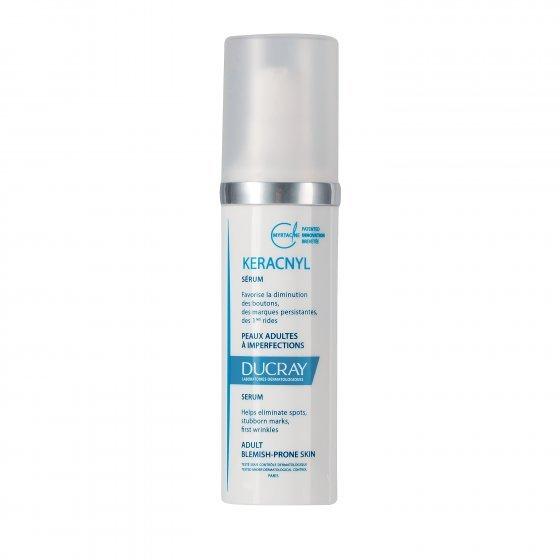 DUCRAY Keracnyl Sérum Global para pele de tendência acneica - acne do adulto.  Embalagem de 30 ml