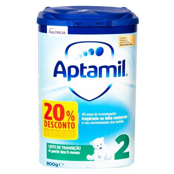 APTAMIL 2 PRONUTRA-ADVANCE LEITE EM PO DE TRANSICAO 800 G COM 20% DESCONTO