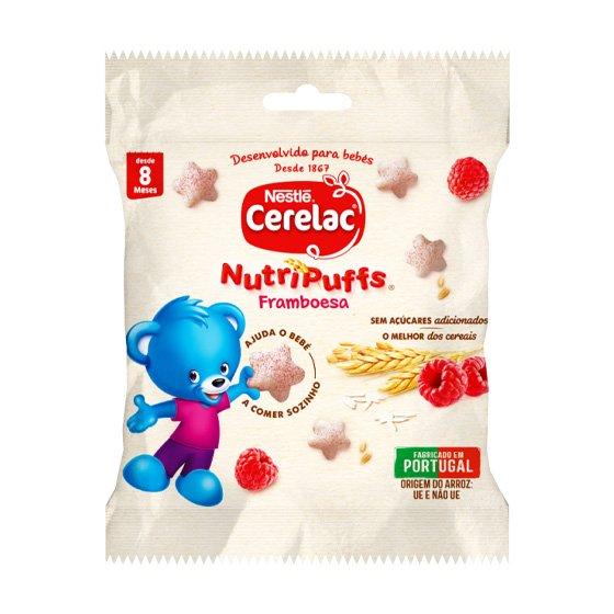 CERELAC NUTRIPUFFS SNACK FRAMBOESA 7G 8M+