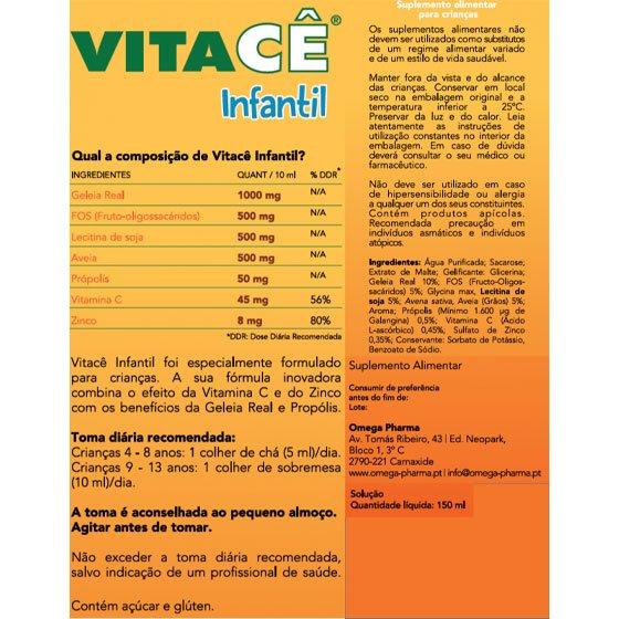 VITACE INFANTIL XAROPE 150 ML