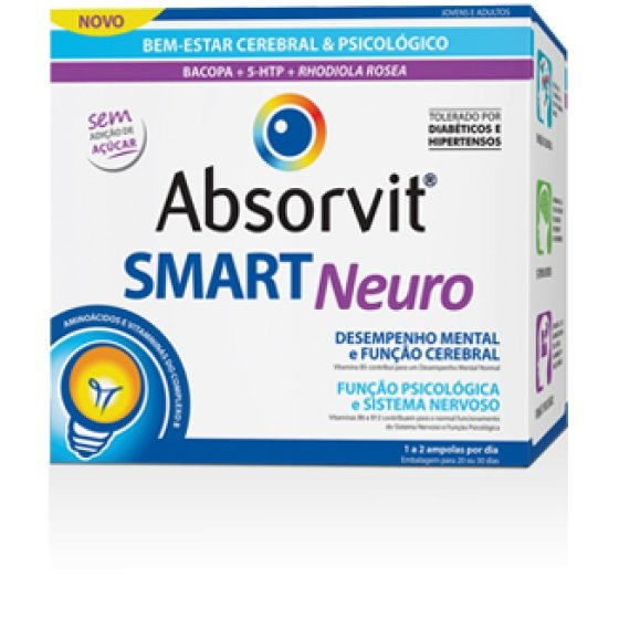 ABSORVIT SMART NEURO AMPOLAS 10ML X 30