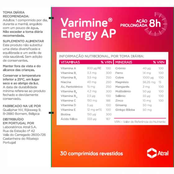 VARIMINE ENERGY AP COMPRIMIDOS X30