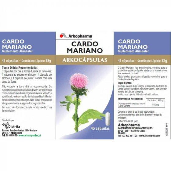 ARKOCAPSULAS CARDO MARIANO CAPSULAS X 45