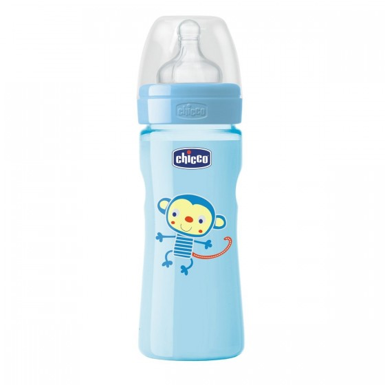 CHICCO BIBERAO BENESSERE WELL BEING SILICONE AZUL 330ML