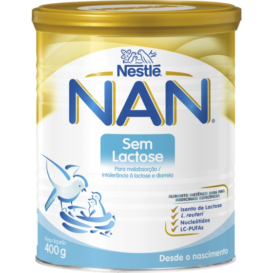 NAN S/LACTOSE LEITE LACT PO 400G