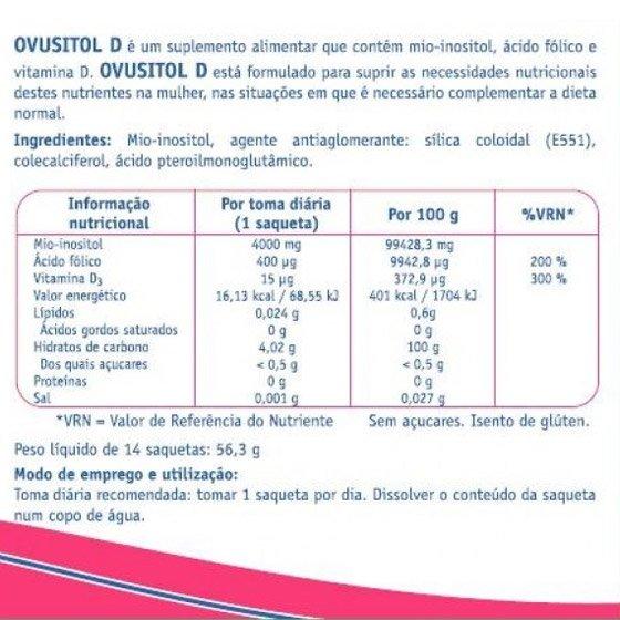 OVUSITOL D PO SOLUCAO ORAL X14 SAQUETAS