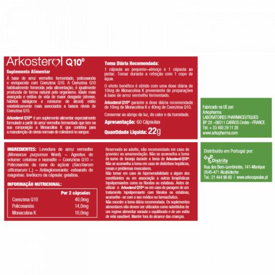 ARKOPHARMA LEVEDURA DE ARROZ VERMELHO + CO Q10 60 CÁPSULAS