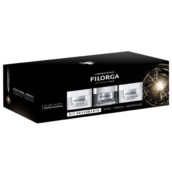 FILORGA KIT DESCOBERTA TIME-FILLER CREME ABSOLUTO 15 ML + NCEF-REVERSE CREME MULTICORRECAO 15 ML + L