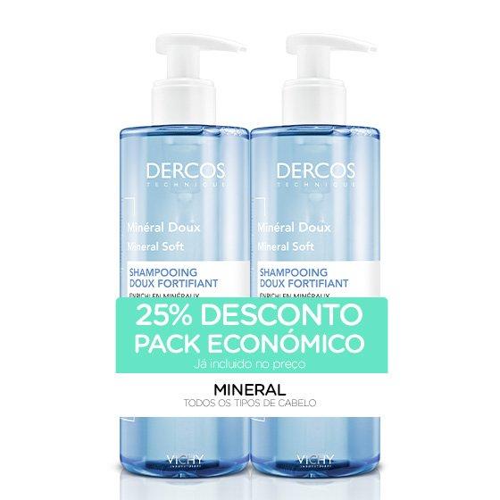 Dercos Mineral Duo Champô Fortificante Suave 2 x400ml