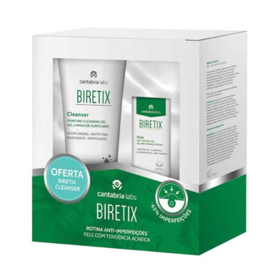 BIRETIX DUO GEL ANTI-IMPERFEICOES 30ML COM OFERTA DE CLEANSER GEL DE LIMPEZA PURIFICANTE 150ML
