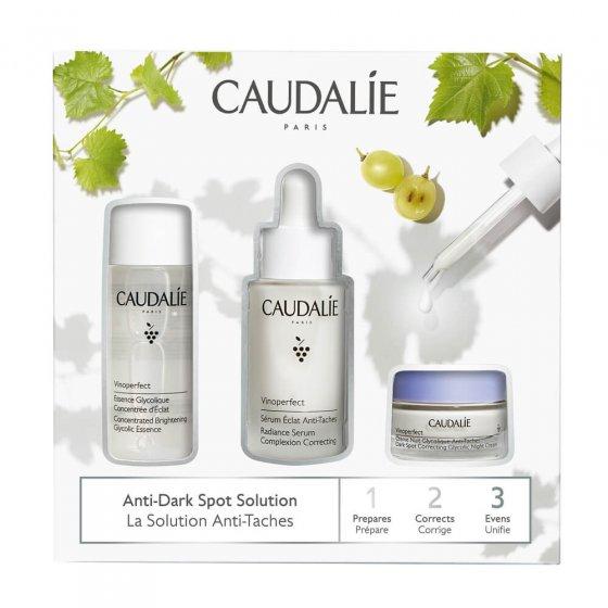 Caudalie Vinoperfect Pack Essence 50ml + Sérum 30ml + Creme Luminosidade 15ml Coffret