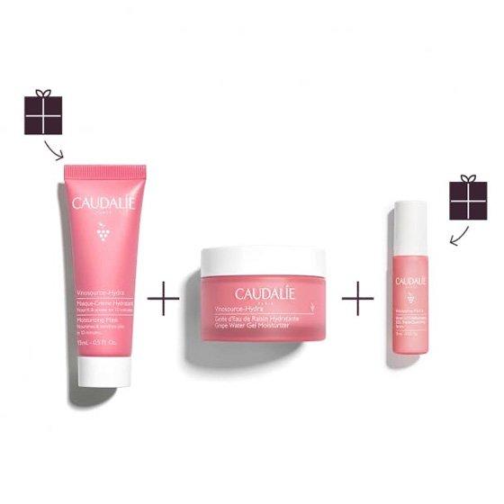 Caudalie Coffret Vinosource-Hydra Creme SOS Hidratante 50ml + Sérum Rehidratante Água 10ml + Máscara Facial Hidratante 15ml