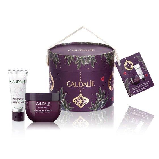 Caudalie Coffret Vinosculpt Balsamo Corporal Refirmante 250ml + Gourmand Creme de Mão e Unhas 75ml