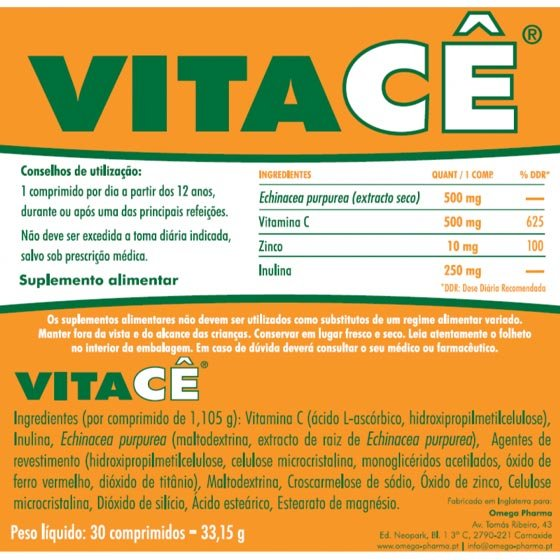 VITACE COMPRIMIDOS X 30
