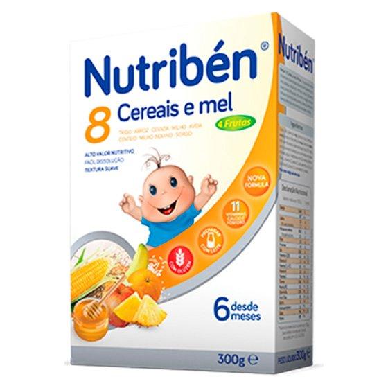 NUTRIBEN FARINHAS 8 CEREAIS MEL 4 FRUTOS 300G