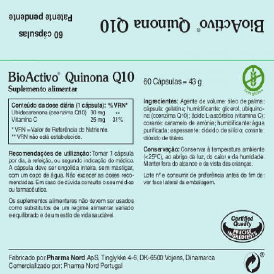 BIOACTIVO QUINONA Q10 X60 CAPSULAS