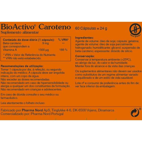 BIOACTIVO CAROTENO X60 CAPSULAS