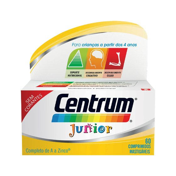 CENTRUM JUNIOR COMPRIMIDOS MASTIGAVEIS X 60