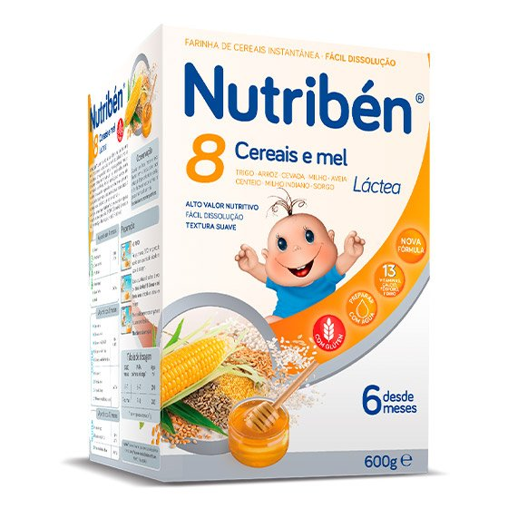 Nutribén Farinhas 8 Cereais Mel La 2 X 300g