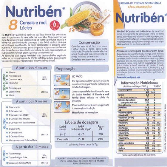 NUTRIBEN FARINHAS 8 CEREAIS MEL LA 2X300G