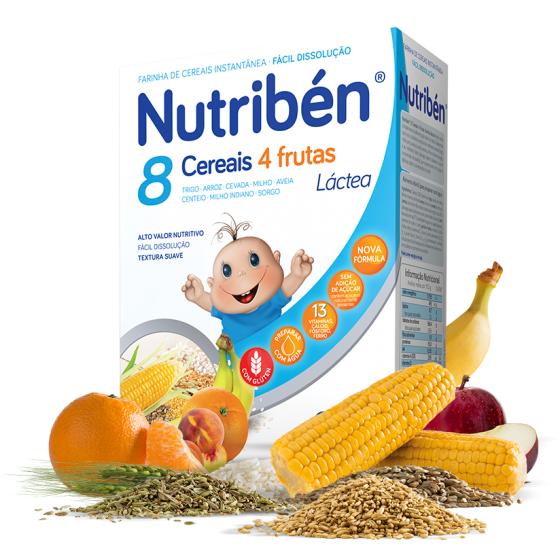 Nutribén 8 Cereais e 4 Frutas Láctea 2x300g