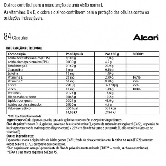 VITALUX PLUS CAPSULAS 10MG LUTEINA X84