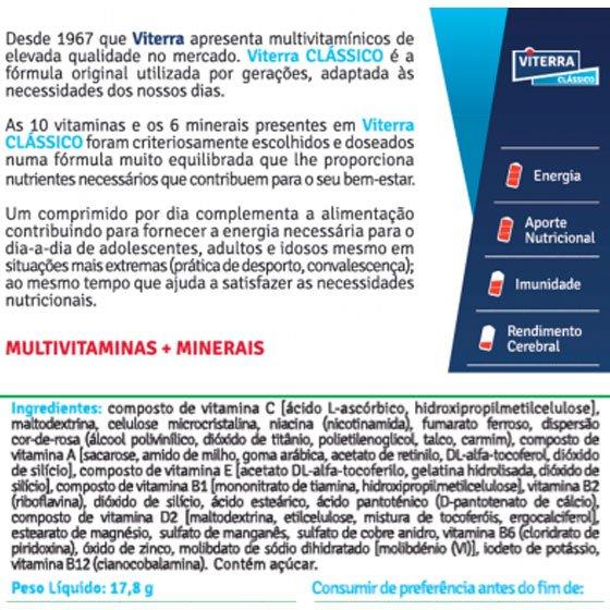 VITERRA CLASSICO COMPRIMIDOS REVESTIDOS X30