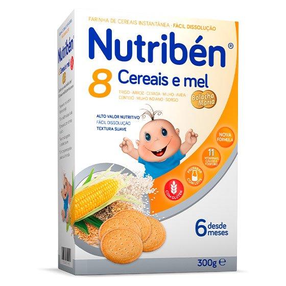 Nutribén 8 Cereais Mel e Bolacha Maria 300g