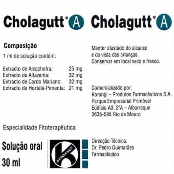 Cholagutt A Solução Oral 30ml
