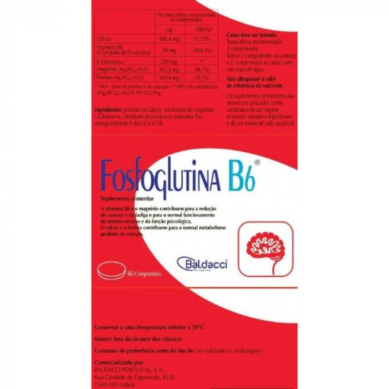 FOSFOGLUTINA B6 60 COMPRIMIDOS