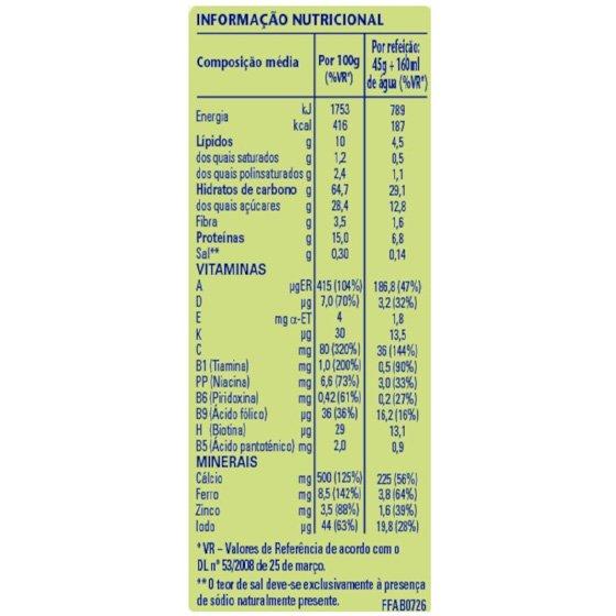 CERELAC FARINHA LA 5 FRUTOS 250 G