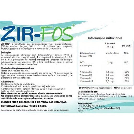 ZIR FOS  3G X30 SAQUETAS